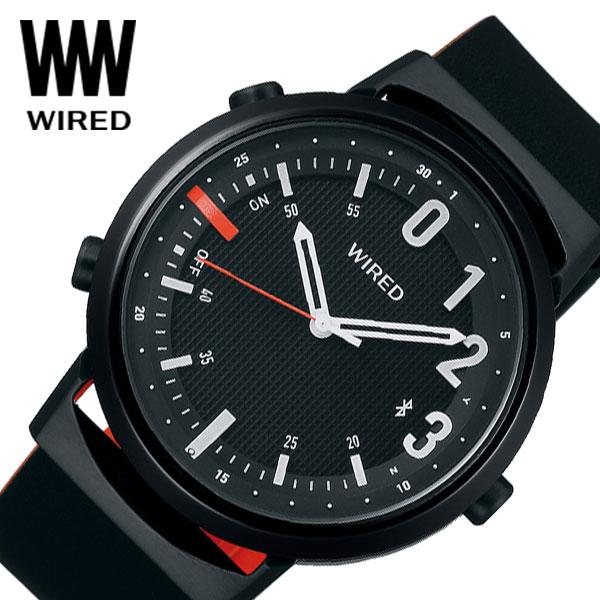 【延長保証対象】セイコー 腕時計 SEIKO 時計ワイアード ツーダブ WIRED WW TYPE02 NUMBER メンズ 腕時計 ブラック AGAB409 [ 人気 正規品 新作 ブランド 防水 ファッション おしゃれ カジュアル Bluetooth 高機能 ] [ プレゼント ギフト 新生活 ]