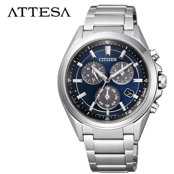 【延長保証対象】CITIZEN 腕時計 シチズン 時計 アテッサ ATTESA メンズ 腕時計 ネイビー BL5530-57L [ 人気 正規品 ブランド おすすめ 防水 エコドライブ ソーラー クロノグラフ ファッション おしゃれ ビジネス スーツ ] [ プレゼント ギフト 新生活 ]
