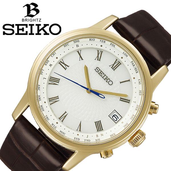 【延長保証対象】セイコー 腕時計 SEIKO 時計ブライツ ビスポークテーラーディトーズ 限定モデル BRIGHTZ メンズ ホワイト SAGZ102 [ おすすめ 防水 新作 電波 ソーラー ファッション おしゃれ ビジネス クラシック カレンダー ][ プレゼント ギフト ホワイトデー ]