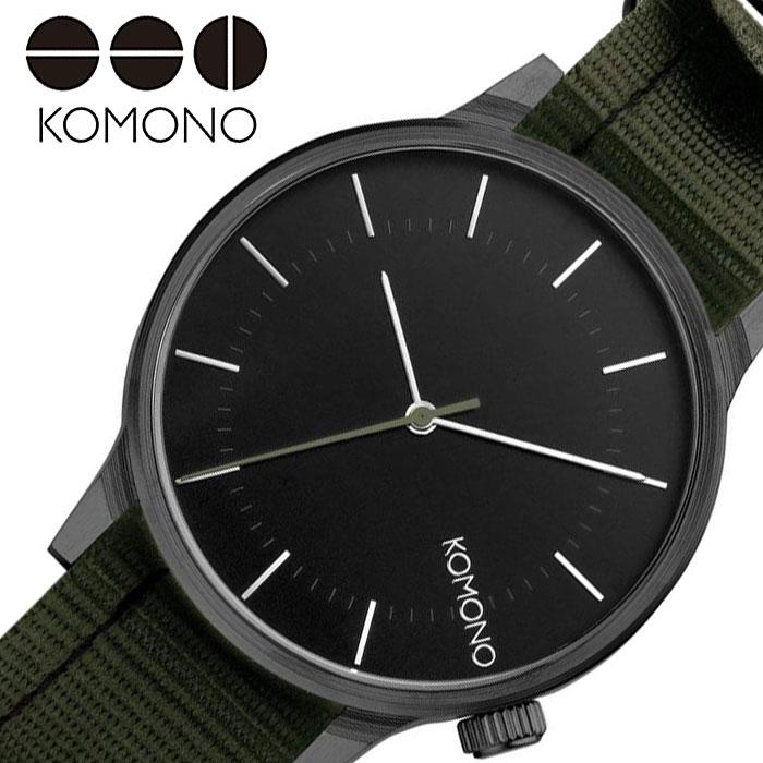 [当日出荷] コモノ 腕時計 KOMONO 時計 ウインストン リーガル WINSTON REGAL レディース ブラック KOM-W2273 [ 人気 ブランド おすすめ ファッション カジュアル おしゃれ 個性的 シンプル シック プレゼント ギフト ]