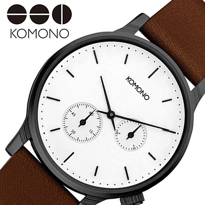 [当日出荷] コモノ 腕時計 KOMONO 時計 ウィンストン ダブル サブス WINSTON DOUBLE SUBS レディース ホワイト KOM-W3054 [ 人気 ブランド おすすめ ファッション カジュアル おしゃれ 個性的 シンプル シック プレゼント ギフト ]