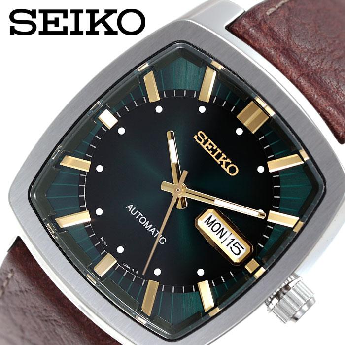 [当日出荷] セイコー 腕時計 SEIKO 時計 メンズ グリーン SNKP27 [ 人気 ブランド 海外限定モデル リクラフトシリーズ おすすめ ビジネス ファッション おしゃれ カジュアル スーツ カレンダー プレゼント ギフト ]
