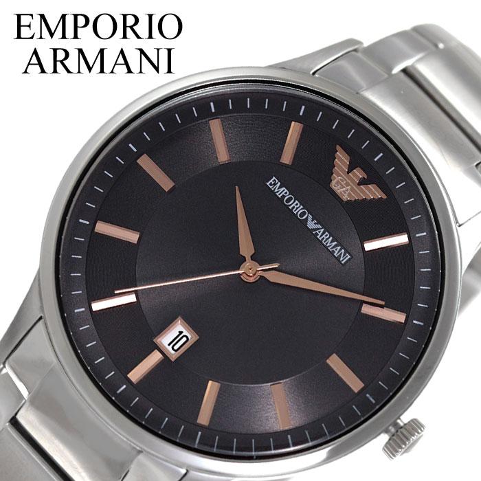 [当日出荷] EMPORIO ARMANI 腕時計 エンポリオ アルマーニ 時計 レナート Renato メンズ 腕時計 ブラック AR11179 [ 人気 ブランド ファッション おしゃれ カジュアル フォーマル スーツ ビジネス カレンダー シンプル プレゼント ギフト ]