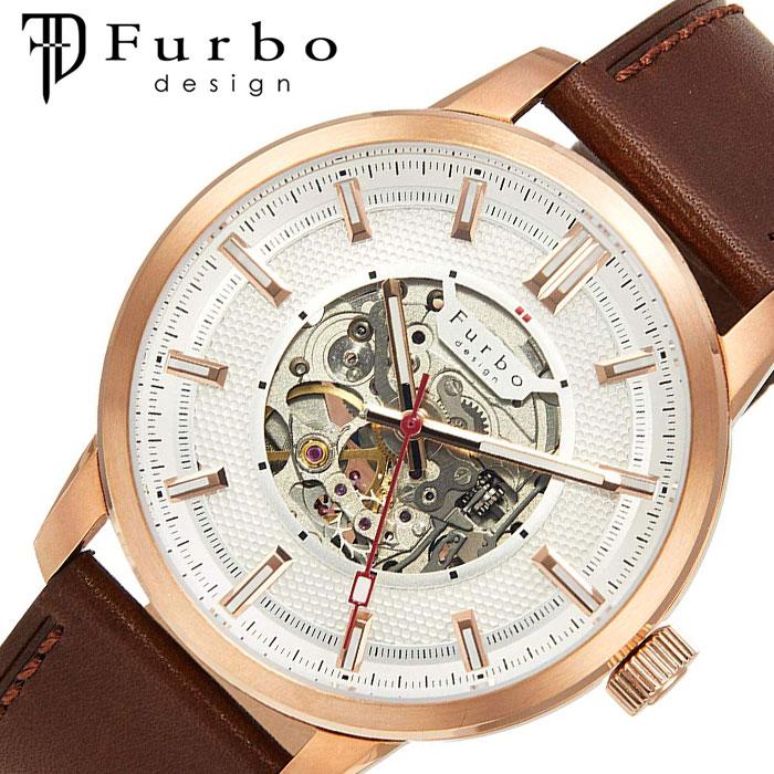[当日出荷] フルボデザイン 腕時計 Furbodesign 時計 ポテンザ POTENZA メンズ ホワイト F8203PSIBR [ 人気 ブランド おしゃれ ファッション カジュアル スーツ ビジネス フォーマル 機械式 プレゼント ギフト ]