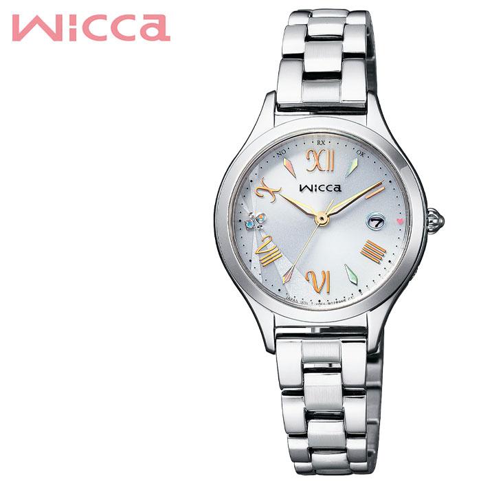 [当日出荷] シチズン 腕時計 CITIZEN 時計 ウィッカ Wicca レディース ホワイト KS1-210-11 [ 人気 ブランド 電波ソーラー 限定 おしゃれ かわいい ファッションビジネス シンプル ソーラー 電波 大人 小さめ 華奢 就活 女性 誕生日 バースデー 記念日 プレゼント ギフト ]