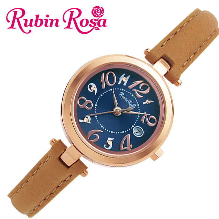 [当日出荷] ルビンローザ 腕時計 RubinRosa 時計 レディース ブルー R220SOLPBL [ 人気 ブランド おしゃれ ファッション カジュアル かわいい ミニマル カレンダー ソーラー プレゼント ギフト ]