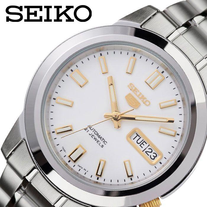 [1,394円引き][当日出荷] SEIKO 腕時計 セイコー 時計 セイコーファイブ SEIKO5 メンズ 腕時計 ホワイト SNKK07K1 [ 人気 ブランド おすすめ 防水 逆輸入 社会人 スーツ フォーマル ビジネス おしゃれ カジュアル スタイリッシュ プレゼント ギフト ]