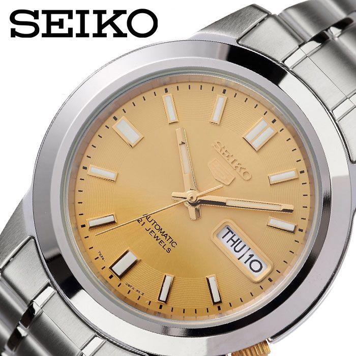 [1,394円引き][当日出荷] SEIKO 腕時計 セイコー 時計 セイコーファイブ SEIKO5 メンズ 腕時計 ゴールド SNKK13K1 [ 人気 ブランド おすすめ 防水 逆輸入 社会人 スーツ フォーマル ビジネス おしゃれ カジュアル スタイリッシュ プレゼント ギフト ]