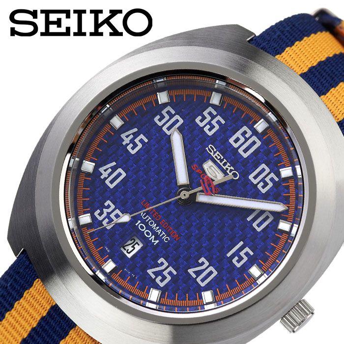 [当日出荷] SEIKO 腕時計 セイコー 時計 セイコーファイブ SEIKO5 メンズ 腕時計 ブルー SRPA91K1 [ 人気 ブランド おすすめ 防水 逆輸入 社会人 スーツ フォーマル ビジネス おしゃれ カジュアル スタイリッシュ プレゼント ギフト ]