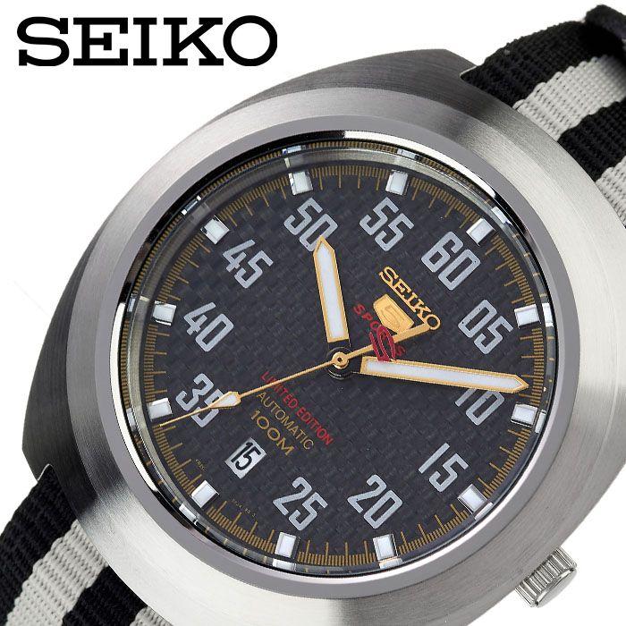 [当日出荷] SEIKO 腕時計 セイコー 時計 セイコーファイブ SEIKO5 メンズ 腕時計 ブラック SRPA93K1 [ 人気 ブランド おすすめ 防水 逆輸入 社会人 スーツ フォーマル ビジネス おしゃれ カジュアル スタイリッシュ プレゼント ギフト ]