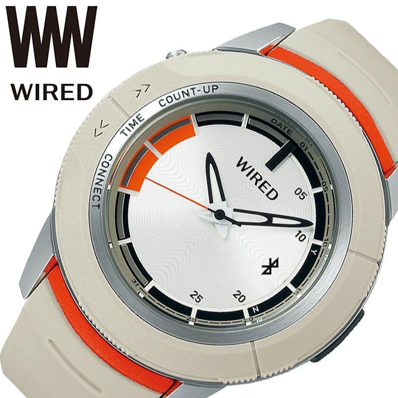 SEIKO 腕時計 セイコー 時計 ワイアード ツーダブ WIRED WW TYPE 04 メンズ ホワイト AGAB414 [ 正規品 人気 ブランド Bluetooth スマートフォン タイマー カレンダー 個性的 ストリート カジュアル おしゃれ 簡単 大きめ 大きい 誕生日 プレゼント ギフト ]