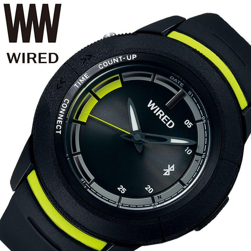 SEIKO 腕時計 セイコー 時計 ワイアード ツーダブ WIRED WW TYPE 04 メンズ ブラック AGAB415 [ 正規品 人気 ブランド Bluetooth スマートフォン タイマー カレンダー 個性的 ストリート カジュアル おしゃれ 簡単 大きめ 大きい 誕生日 プレゼント ギフト ]