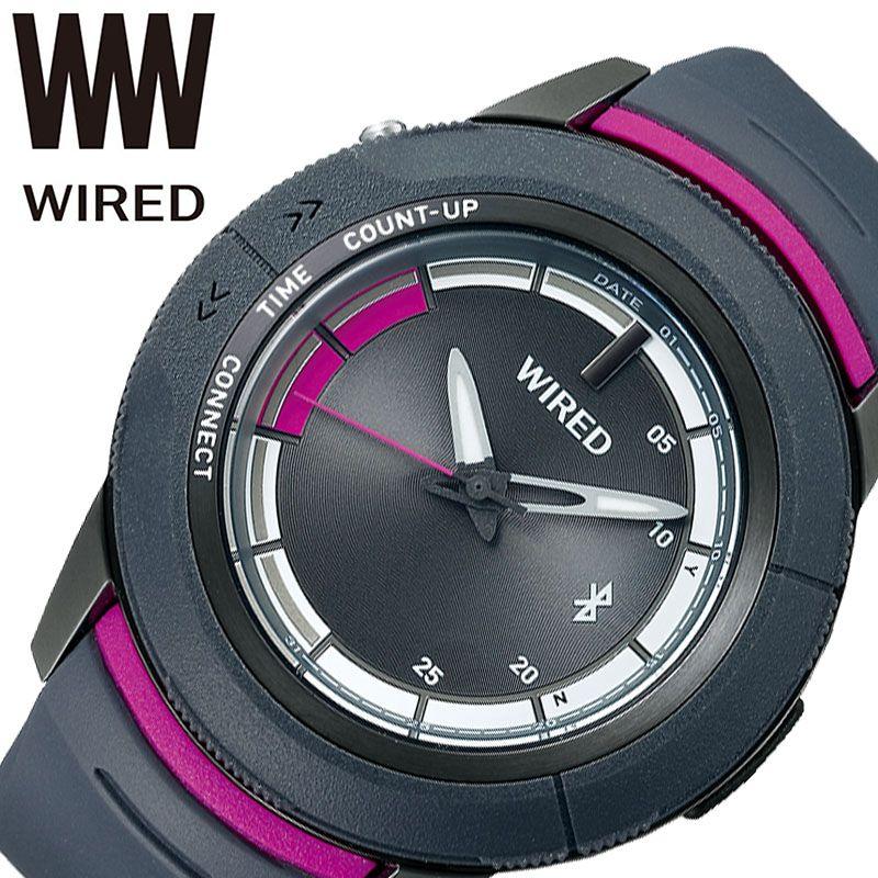 SEIKO 腕時計 セイコー 時計 ワイアード ツーダブ WIRED WW TYPE 04 メンズ グレー AGAB416 [ 正規品 人気 ブランド Bluetooth スマートフォン タイマー カレンダー 個性的 ストリート カジュアル おしゃれ 簡単 大きめ 大きい 誕生日 プレゼント ギフト ]