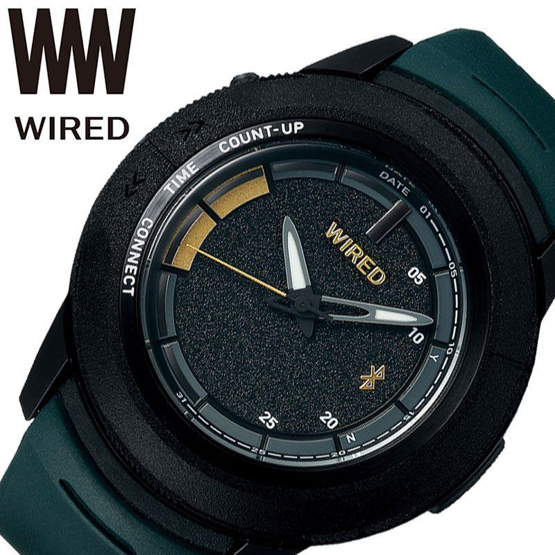 SEIKO 腕時計 セイコー 時計 ワイアード ツーダブ WIRED WW TYPE 04 メンズ ブラック AGAB701 [ 正規品 人気 ブランド 池田大亮 選手 コラボ モデル Bluetooth スマートフォン 個性的 ストリート カジュアル おしゃれ 簡単 大きめ 大きい 誕生日 プレゼント ギフト ]