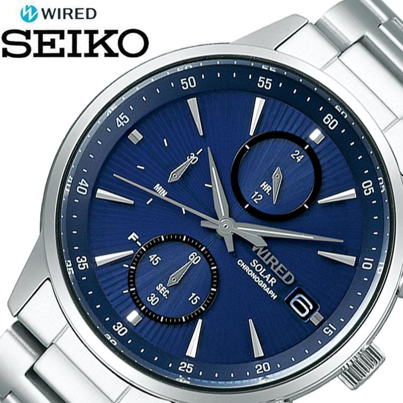 SEIKO 腕時計 セイコー 時計 ワイアード WIRED メンズ ブルー AGAD407 [ 人気 ブランド おすすめ おしゃれ かっこいい ブルー シルバー メタル ソーラー 大人 ビジネス 誕生日 プレゼント ギフト ]