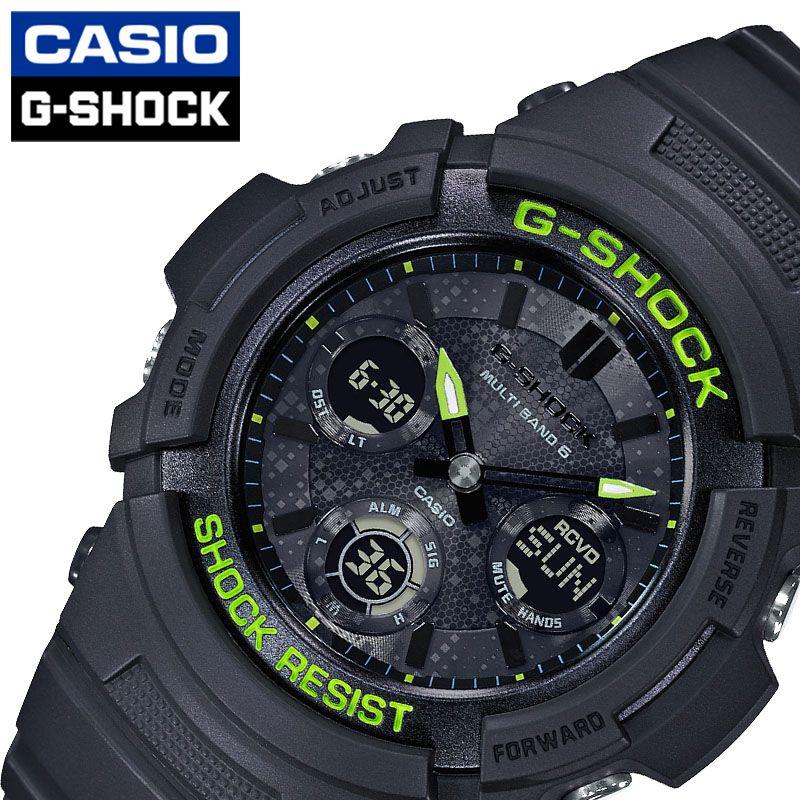 [当日出荷] Gショック G-SHOCK メンズ 腕時計 ブラック Black and Yellow Series AWG-M100SDC-1AJF [ おすすめ 人気 おしゃれ かっこいい ソーラー 電波 メタリック デジタル カモフラージュ カジュアル スポーツ アウトドア ギフト プレゼント ]