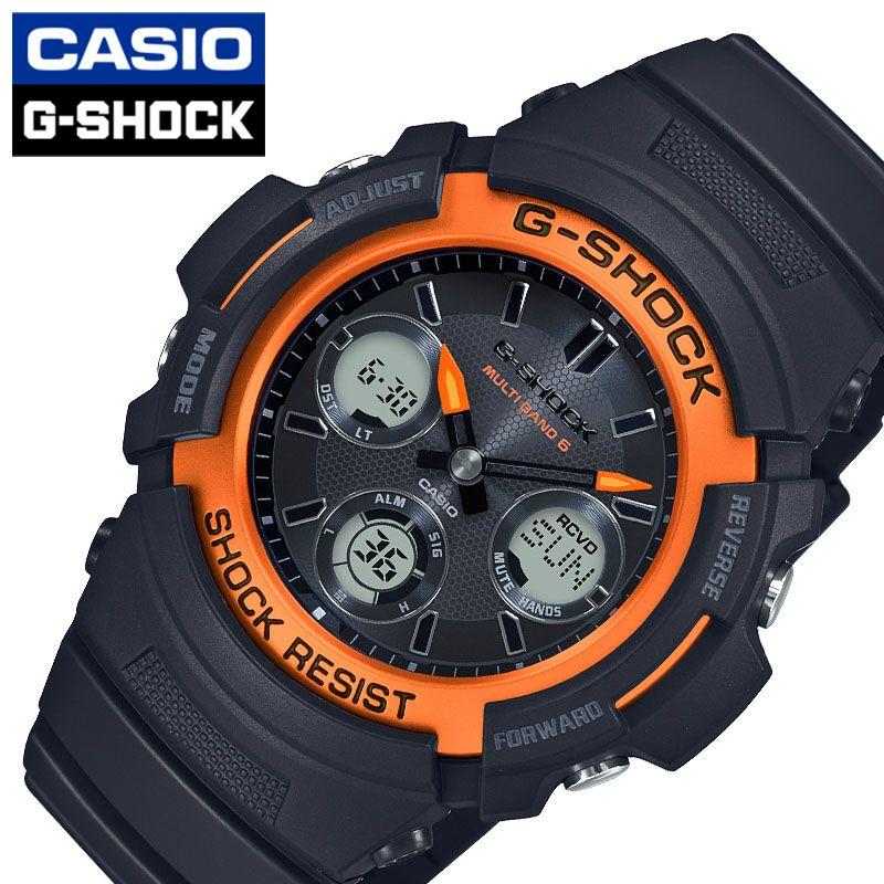 [当日出荷] Gショック 腕時計 カシオ 時計 ファイアー パッケージ G-SHOCK FIRE PACKAGE メンズ ブラック/オレンジ AWG-M100SF-1H4JR [ 人気 ブランド おすすめ おしゃれ スポーティー ブラック 黒 オレンジ 光沢 スタイリッシュ ワンポイント ファッション ]