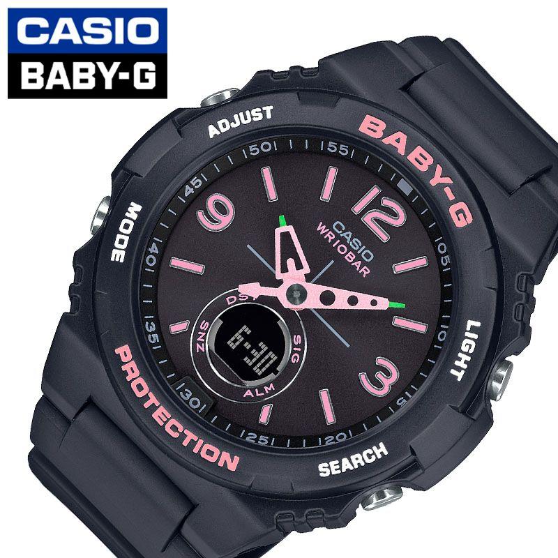 [当日出荷] ベビーG 腕時計 カシオ 時計 BABY-G レディース 腕時計 ブラック BGA-260SC-1AJF [ 人気 ブランド おすすめ おしゃれ かわいい ベビーG スポーティー ベビーG ブラック ピンク 黒 シンプル ワンポイント ファッション ]