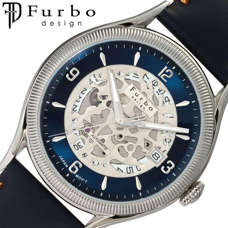 [当日出荷] Furbodesign 腕時計 フルボデザイン 時計 カモフラージュ CAMOFLAGE メンズ ネイビー F8204SBLBL [ 人気 ブランド おすすめ おしゃれ ネイビー 革ベルト 大人 ノスタルジック ゴールド カレンダー ビジネス オフィス カジュアル イタリア シンプル ルビー ]