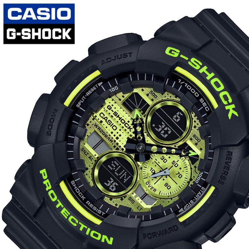 [当日出荷] Gショック G-SHOCK メンズ 腕時計 イエロー Black and Yellow Series GA-140DC-1AJF [ おすすめ 人気 おしゃれ かっこいい ブラック メタリック デジタル カモフラージュ カジュアル スポーツ アウトドア ギフト プレゼント ]