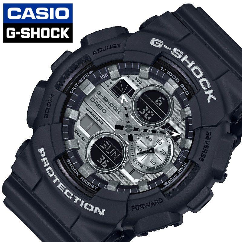 [当日出荷] CASIO 腕時計 カシオ 時計 G-SHOCK メンズ 腕時計 ブラック/シルバー GA-140GM-1A1JF [ 人気 ブランド おすすめ おしゃれ Gショック スポーティー ブラック シルバー メカ感 大人 機械感 光沢 ワンポイント ファッション ]