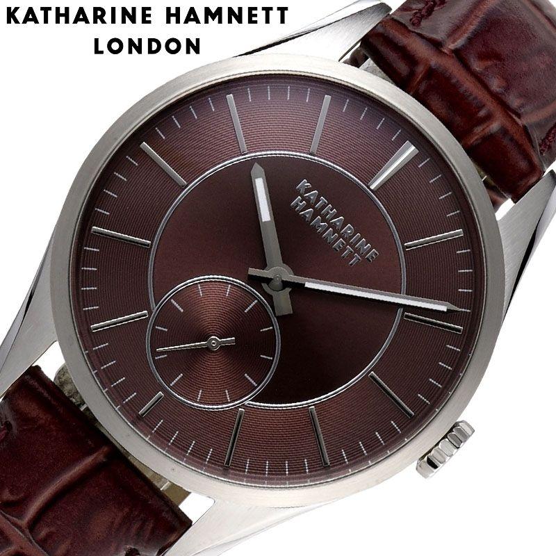 キャサリンハムネット 腕時計 KATHARINE HAMNETT 時計 ベーシックバリエーション Basic Variation メンズ 腕時計 シルバー KH20H9-74 [ 人気 おすすめ 大人 シンプル フォーマル おしゃれ かっこいい レトロ スーツ 革バンド ホワイト ビジネス ギフト プレゼント ]