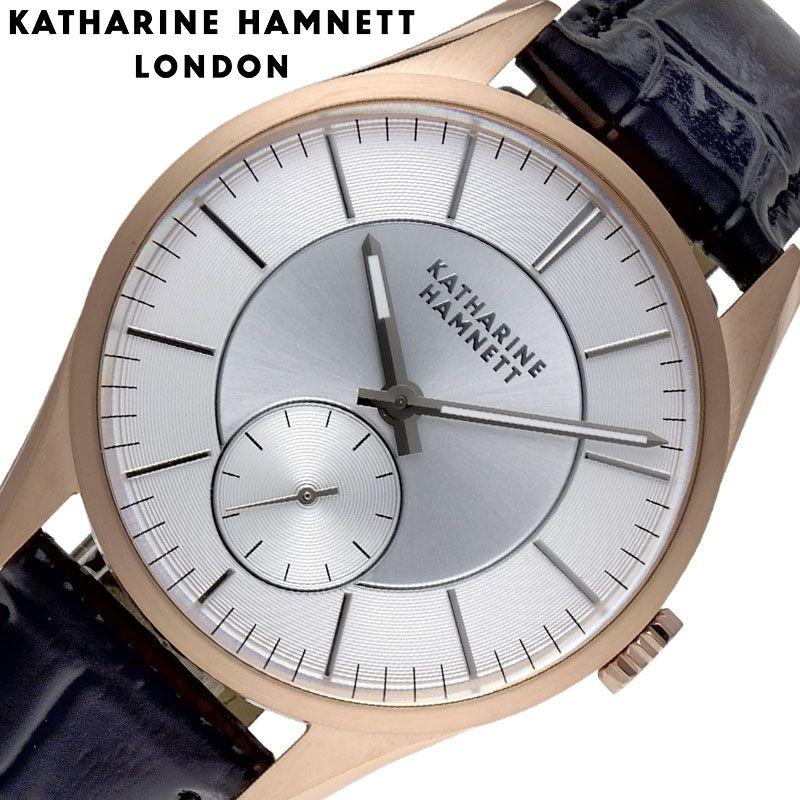 キャサリン ハムネット 腕時計 KATHARINE HAMNETT 時計 ベーシックバリエーション Basic Variation メンズ 腕時計 ブラウン KH27H9-04 [ 人気 おすすめ 大人 シンプル フォーマル おしゃれ かっこいい レトロ スーツ 革バンド ローズゴールド ビジネス ギフト プレゼント ]