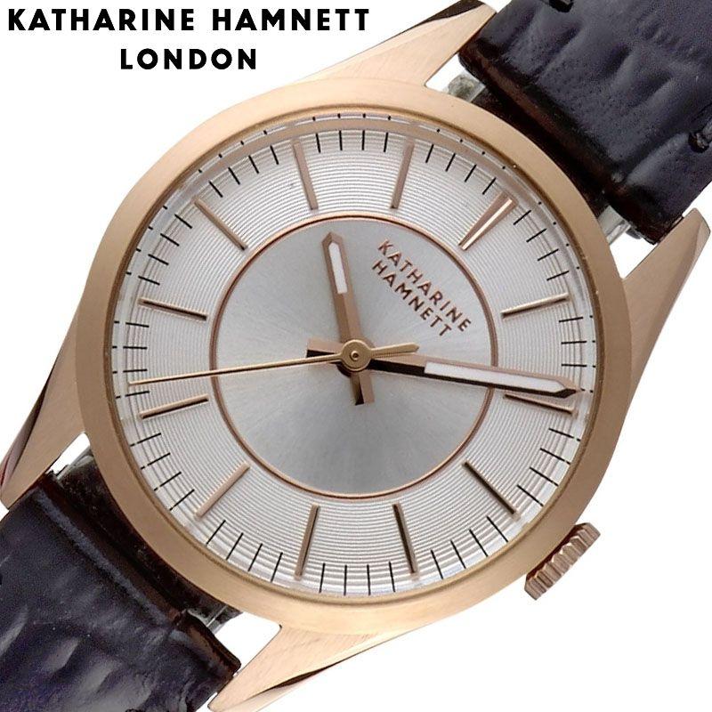 キャサリン ハムネット 腕時計 KATHARINE HAMNETT 時計 ベーシックバリエーション Basic Variation レディース 腕時計 シルバー KH77J1-04 [ 人気 ブランド おすすめ おしゃれ 大人女子 皮ベルト 小さめ 小物 シック かわいい KH オフィス カジュアル プレゼント ギフト ]
