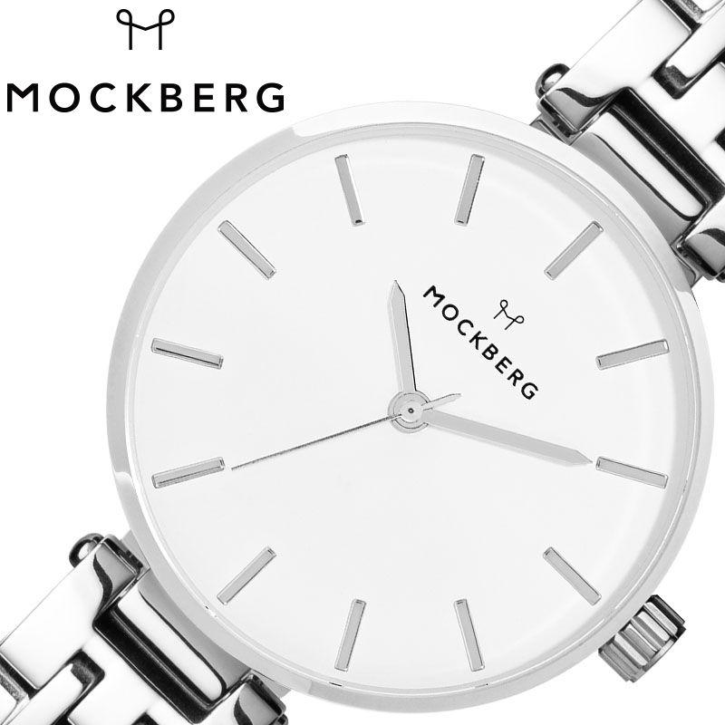 [当日出荷] MOCKBERG 腕時計 モックバーグ 時計 レディース ホワイト MO513 [ 人気 ブランド おすすめ おしゃれ かわいい ホワイト シルバー メタル 大人 ビジネス オフィス カジュアル シンプル ちいさめ 高級感 ワンポイント プレゼント ファッション ギフト ]