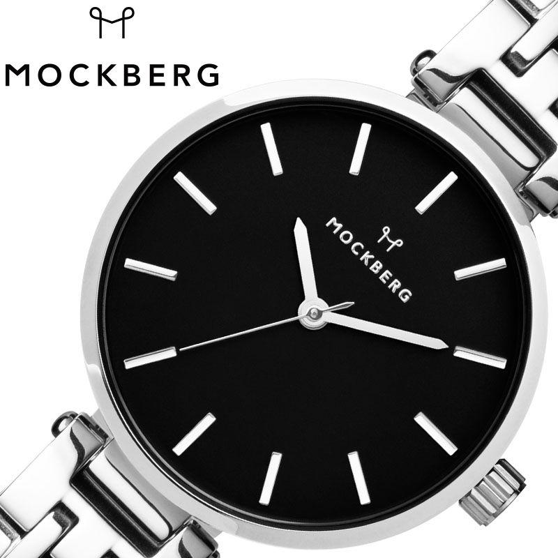MOCKBERG 腕時計 モックバーグ 時計 レディース ブラック MO514 [ 人気 ブランド おすすめ おしゃれ モックバーグ かわいい ホワイト シルバー メタル 大人 ビジネス オフィス カジュアル シンプル ちいさめ 高級感 ワンポイント プレゼント ファッション ギフト ]