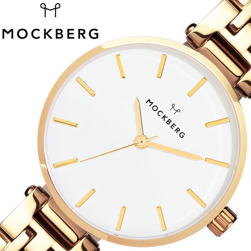 MOCKBERG 腕時計 モックバーグ 時計 レディース ホワイト MO515 [ 人気 ブランド おすすめ おしゃれ モックバーグ かわいい ホワイト シルバー メタル 大人 ビジネス オフィス カジュアル シンプル ちいさめ 高級感 ワンポイント プレゼント ファッション ギフト ]