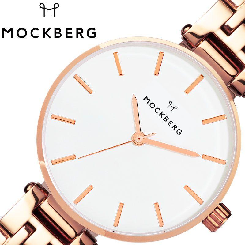 MOCKBERG 腕時計 モックバーグ 時計 レディース ホワイト MO517 [ 人気 ブランド おすすめ おしゃれ モックバーグ かわいい ホワイト シルバー メタル 大人 ビジネス オフィス カジュアル シンプル ちいさめ 高級感 ワンポイント プレゼント ファッション ギフト ]