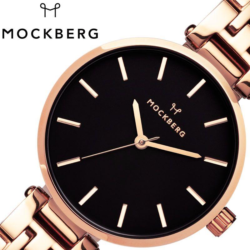 MOCKBERG 腕時計 モックバーグ 時計 レディース ブラック MO518 [ 人気 ブランド おすすめ おしゃれ モックバーグ かわいい ホワイト シルバー メタル 大人 ビジネス オフィス カジュアル シンプル ちいさめ 高級感 ワンポイント プレゼント ファッション ギフト ]