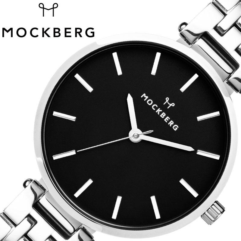 MOCKBERG 腕時計 モックバーグ 時計 レディース ブラック MO520 [ 人気 ブランド おすすめ おしゃれ モックバーグ かわいい ホワイト シルバー メタル 大人 ビジネス オフィス カジュアル シンプル ちいさめ 高級感 ワンポイント プレゼント ファッション ギフト ]