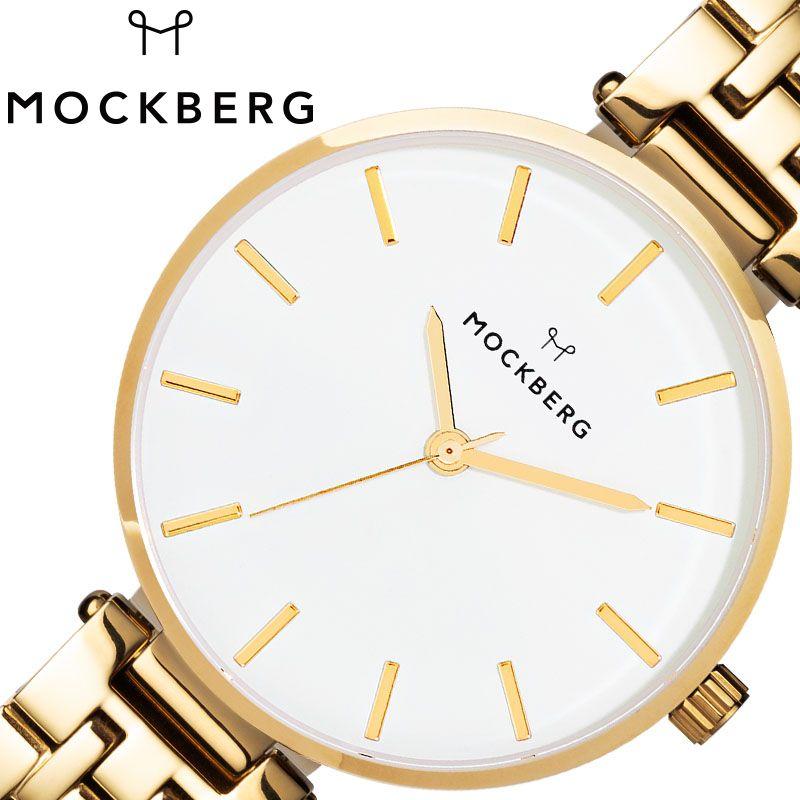 MOCKBERG 腕時計 モックバーグ 時計 レディース ホワイト MO521 [ 人気 ブランド おすすめ おしゃれ モックバーグ かわいい ホワイト シルバー メタル 大人 ビジネス オフィス カジュアル シンプル ちいさめ 高級感 ワンポイント プレゼント ファッション ギフト ]