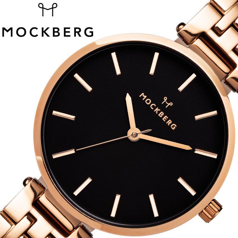MOCKBERG 腕時計 モックバーグ 時計 レディース ブラック MO524 [ 人気 ブランド おすすめ おしゃれ モックバーグ かわいい ホワイト シルバー メタル 大人 ビジネス オフィス カジュアル シンプル ちいさめ 高級感 ワンポイント プレゼント ファッション ギフト ]