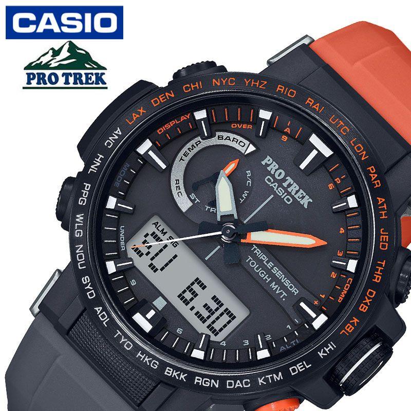 [当日出荷] プロトレック PRO TREK メンズ 腕時計 ブラック 日本フリークライミング協会・PETZL コラボレーションモデル PRW-60YJP-1JR [ おすすめ 人気 おしゃれ かっこいい ソーラー 電波 オレンジ 大人 カジュアル スポーツ アウトドア ギフト プレゼント ]