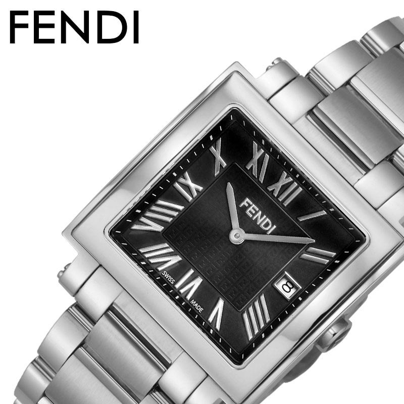 フェンディ 腕時計 FENDI 時計 FENDI 腕時計 フェンディ 時計 クアドロ QUADORO メンズ 腕時計 ブラック F606011000 [ 人気 おすすめ 高級 ブランド 大人 かっこいい メタル ベルト クラシック フォーマル ドレス ビジネス 就職 仕事 彼氏 恋人 ギフト プレゼント ]