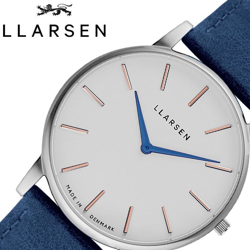 [当日出荷] エルラーセン 腕時計 LLARSEN 時計 オリバー Oliver メンズ 腕時計 ホワイト LL147SWDSNM [ 限定 人気 ブランド 藍色 ブルー メタル 阿波藍 すくも 京都 カジュアル 小さめ ファッション 大人 彼女 ペア 誕生日 プレゼント ギフト ]
