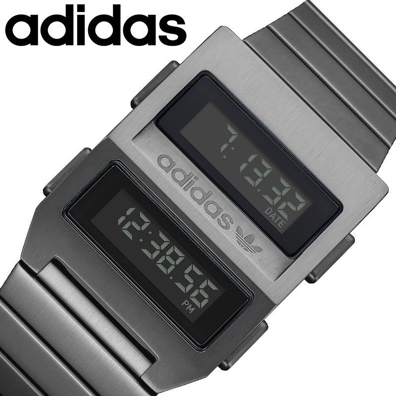 adidas originals 腕時計 アディダスオリジナルス 時計 アーカイブ ARCHIVE メンズ レディース ブラック Z20-632-00 [ 人気 ブランド おすすめ おしゃれ ブラック グレー メタル 防水 スポーツ カジュアル 運動 ランニング ファッション 誕生日 プレゼント ギフト ]