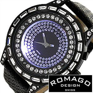 【延長保証対象】ロマゴデザイン 腕時計 ROMAGODESIGN時計 ROMAGO DESIGN 腕時計 ロマゴ デザイン 時計 ダズル シリーズ DAZZLE SERIES メンズ レディース 男女兼用時計ディース時計 RM006-1477BK-WH 革ベルト 革 ベルト おしゃれ 送料無料 入学 卒業 祝い