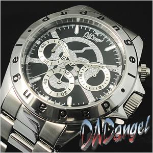 ダッドエンジェル 腕時計 DAD angel 時計 メンズ DAD702-05 [ メンズ腕時計 腕時計メンズ クロノグラフ クロノ 髑髏 ガイコツ スカル かっこいい オシャレ 天使 ロック ロックンロール バンド メタル ][ プレゼント ギフト 新春 2020 ]