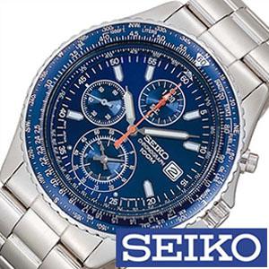 【延長保証対象】セイコー 腕時計 メンズ SEIKO 時計 セイコー 時計 セイコー 海外モデル セイコー 逆輸入 海外セイコー セイコー時計 SND255PC SND255P1 ブルー パイロットクロノグラフ ギフト 定番 防水[ バーゲン ]