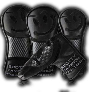 【Scotty Cameron】【HC710】タイトリスト スコッティキャメロン 2013マスターズ ゴー・ゲッター ブラックレザーヘッドカバー4点セット(PUTTER,DRIVER,FAIRWAY,UTILITY)