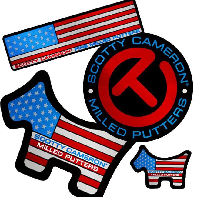 Stickers - USA 4-Pack 未使用 Red Blue Scotty おしゃれ Cameron A416 レッド スコッティキャメロン メール便送料無料 ブルー ステッカー 4パック