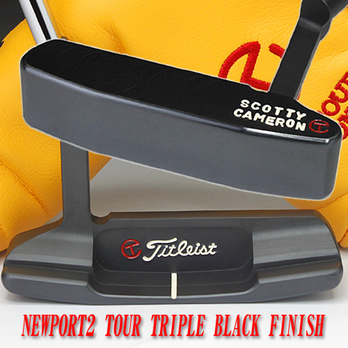 2 ♦ Scotty Cameron Newport 2 tour triple black finish circle T 35-inch tour putter