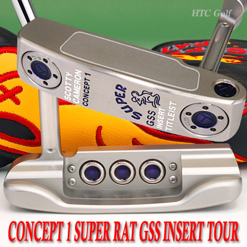 2 ■ Scotty Cameron concept 1 Super rat GSS insert silvermist / purple prototype circle T-34 inch tour putter