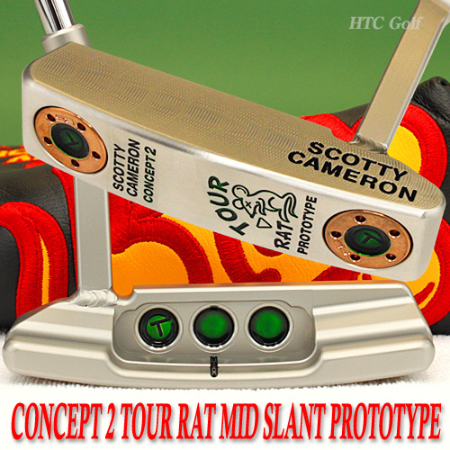 2 ♦-Scotty Cameron concept 2 tour rat welded mid slant neck SSS prototype circle T-34 inch tour putter