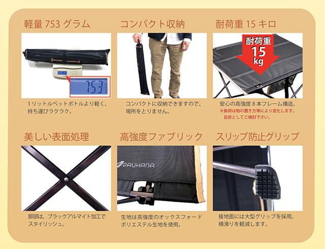 4bd4a7e3c6 楽天市場】PAUHANA 折りたたみテーブル 軽量:HTCゴルフ
