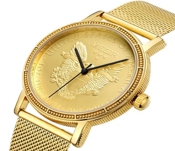 【TO】ゴールドイーグル・コインウォッチ 腕時計 ( 豪華 贈り物 コンペ賞品 時計 おもしろ グッズ ギフト)【楽ギフ_包装 年賀】【HTCゴルフ ホクシン交易】【送料無料】
